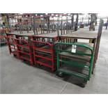 LOT: (4) Custom Welded Material Carts