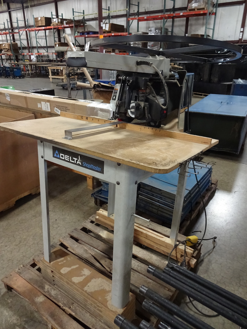 Delta 1-1/2 HP Radial Arm Cut-off Saw, S/N 04184786, 110 Volt - Image 2 of 3
