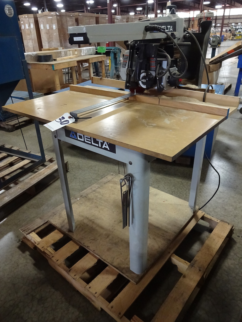 Delta 1-1/2 HP Radial Arm Cut-off Saw, S/N 12F 13906 2012 22-DP, 110 Volt - Image 2 of 3