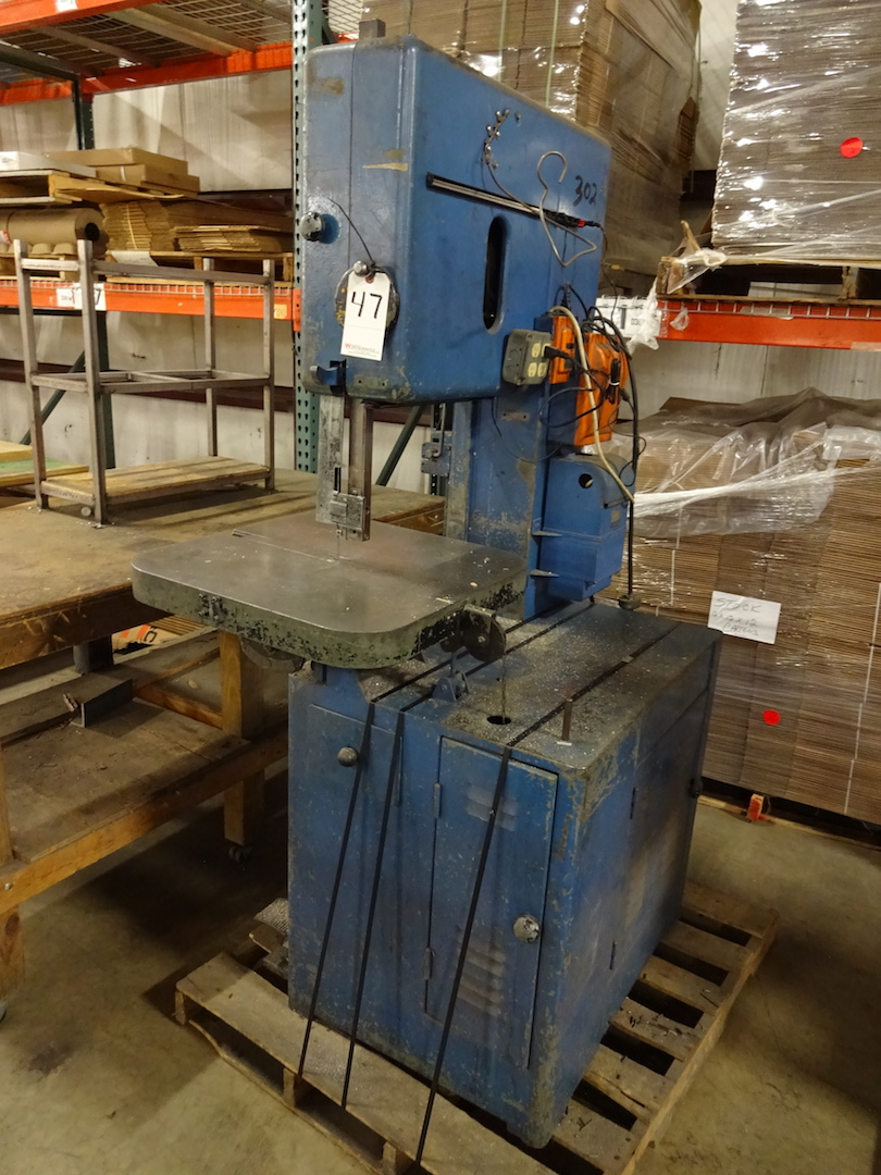 Grob 18 in. Model NS-18 Vertical Band Saw, S/N 9965