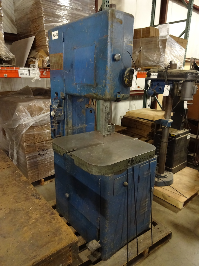 Grob 18 in. Model NS-18 Vertical Band Saw, S/N 9965 - Image 2 of 3