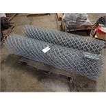 LOT: (2) Rolls Galvanized Chain Link Fencing Fabric