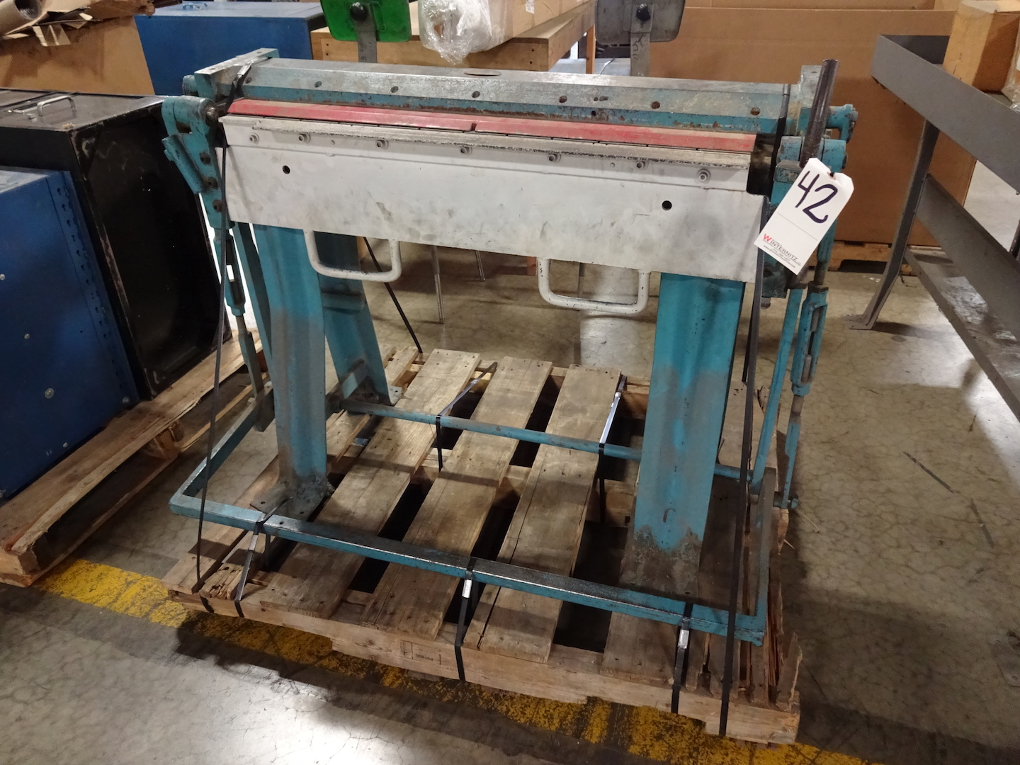 Chicago 36 in. Size 25 Bending Brake, S/N 89722
