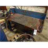 LOT: Wood Top Work Bench with Craftsman Double End Grinder