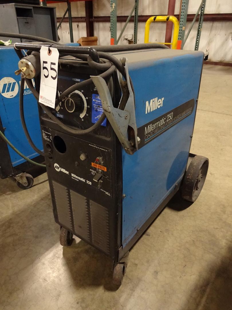 Miller 200 Amp Millermatic 250 Wire Welder, S/N KH395065 (1997)