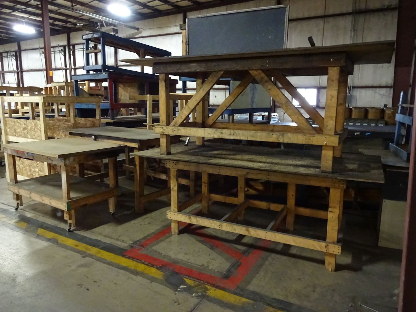 LOT: Assorted Wood Tables & Work Benches - Image 2 of 2