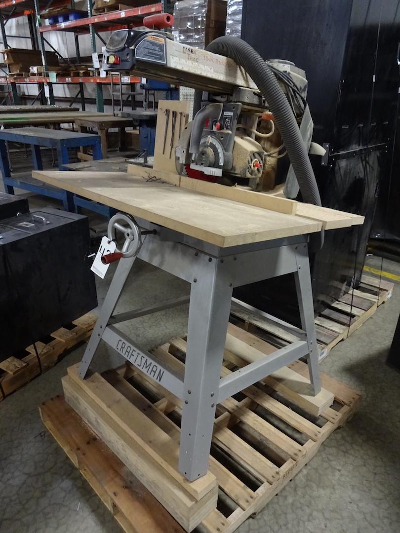 Craftsman 10 in. Laser Trac Radial Arm Cut-off Saw, S/N BK171665481, 110 Volt