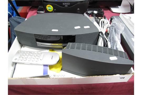 a bose wave music system in black together with a bose wave dab rh the saleroom com Bose SoundDock Portable Speaker Bose Wave Systems Enclosure Plans