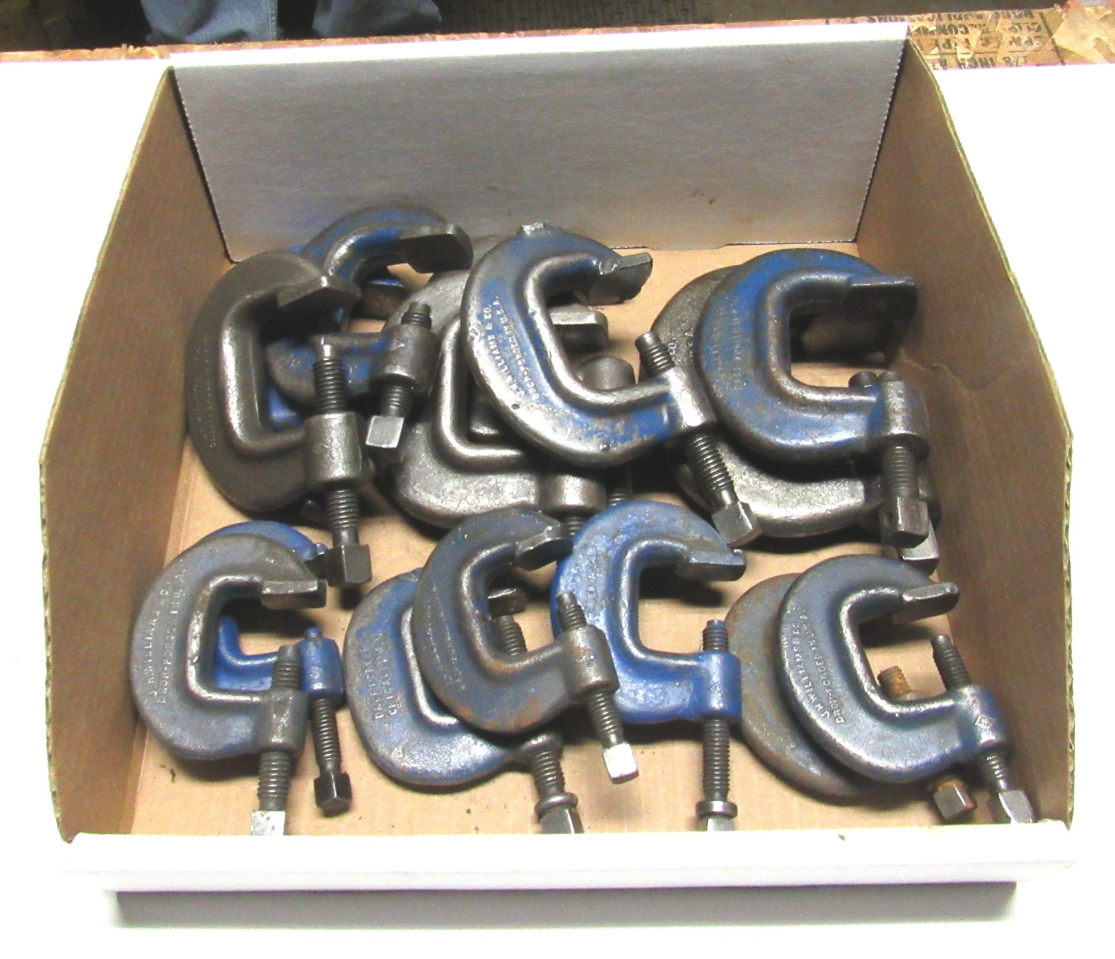 Lot 15 - (16) JH Williams C Clamps