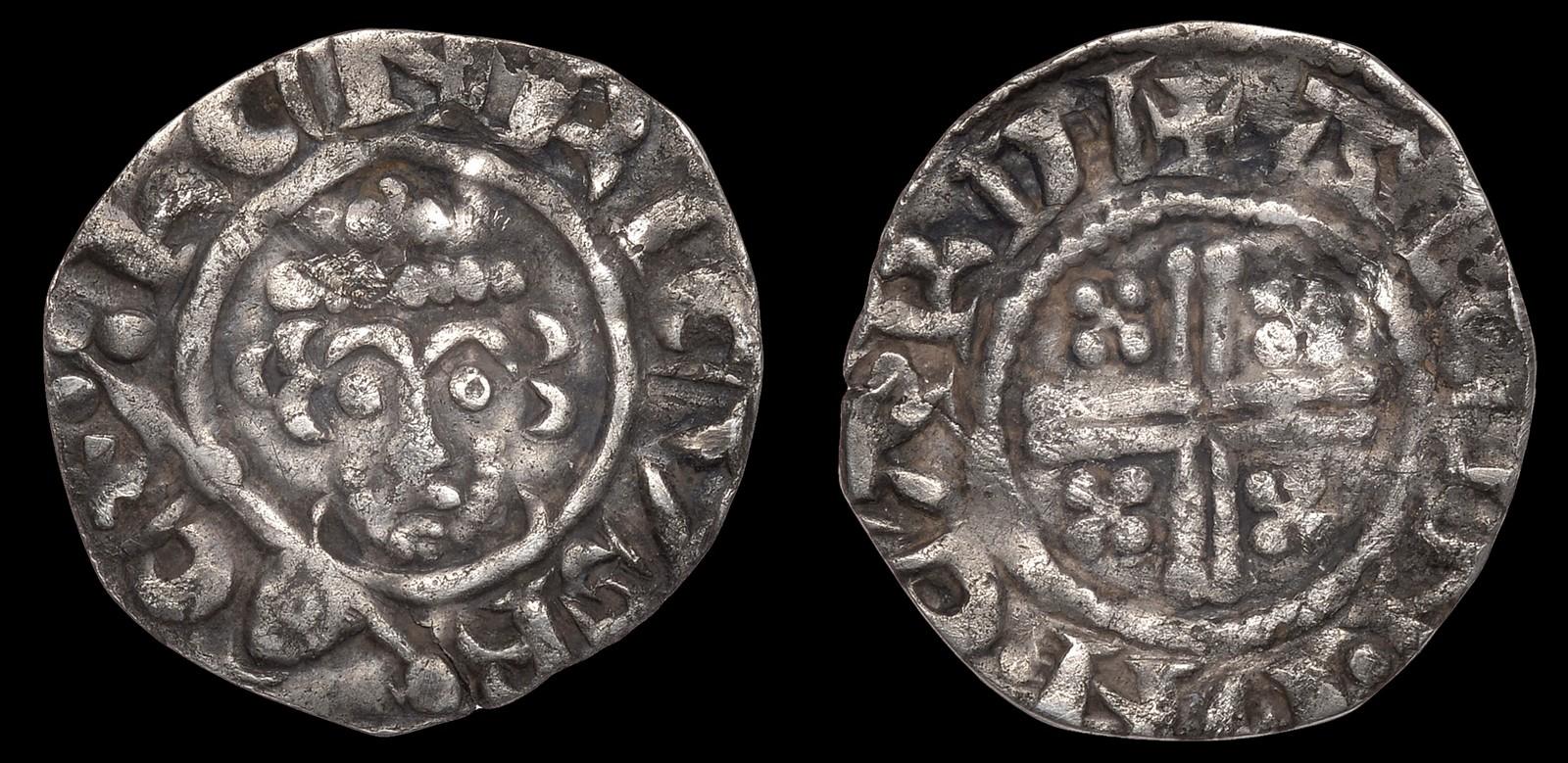 Lot 36 - BRITISH COINS, Richard I (1189-1199), Penny, class IVa, Carlisle, Alain, alein · on · cardi, 1.12g/