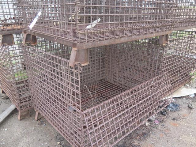 Lot 51 - Wire Frame Pallet Baskets (19)