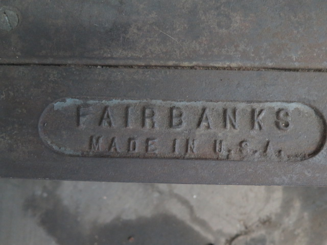 Lot 22 - Fairbanks Shipping Scale