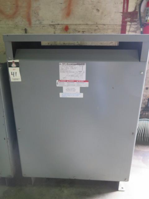 Lot 41 - SquareD 150kVA Transformer 480-208Y/120