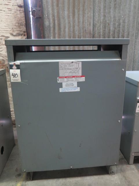 Lot 40 - Sorgel 150kVA Transformer 480-208Y/120