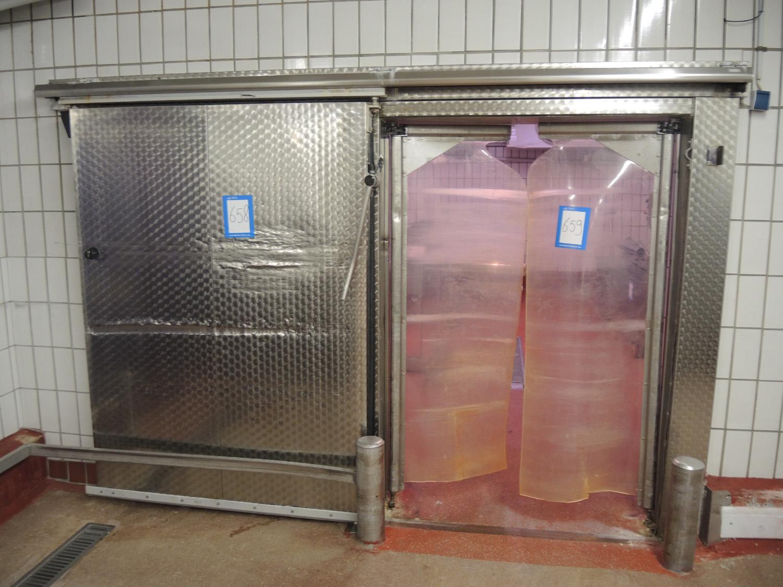 Lot 2757 Fermod s/s refrigeration sliding door dimensions: 1470 mm  #6A4C40