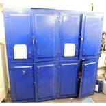 Large Lockable Steel 8 Door Cabinet (8ft(H) x 8ft(