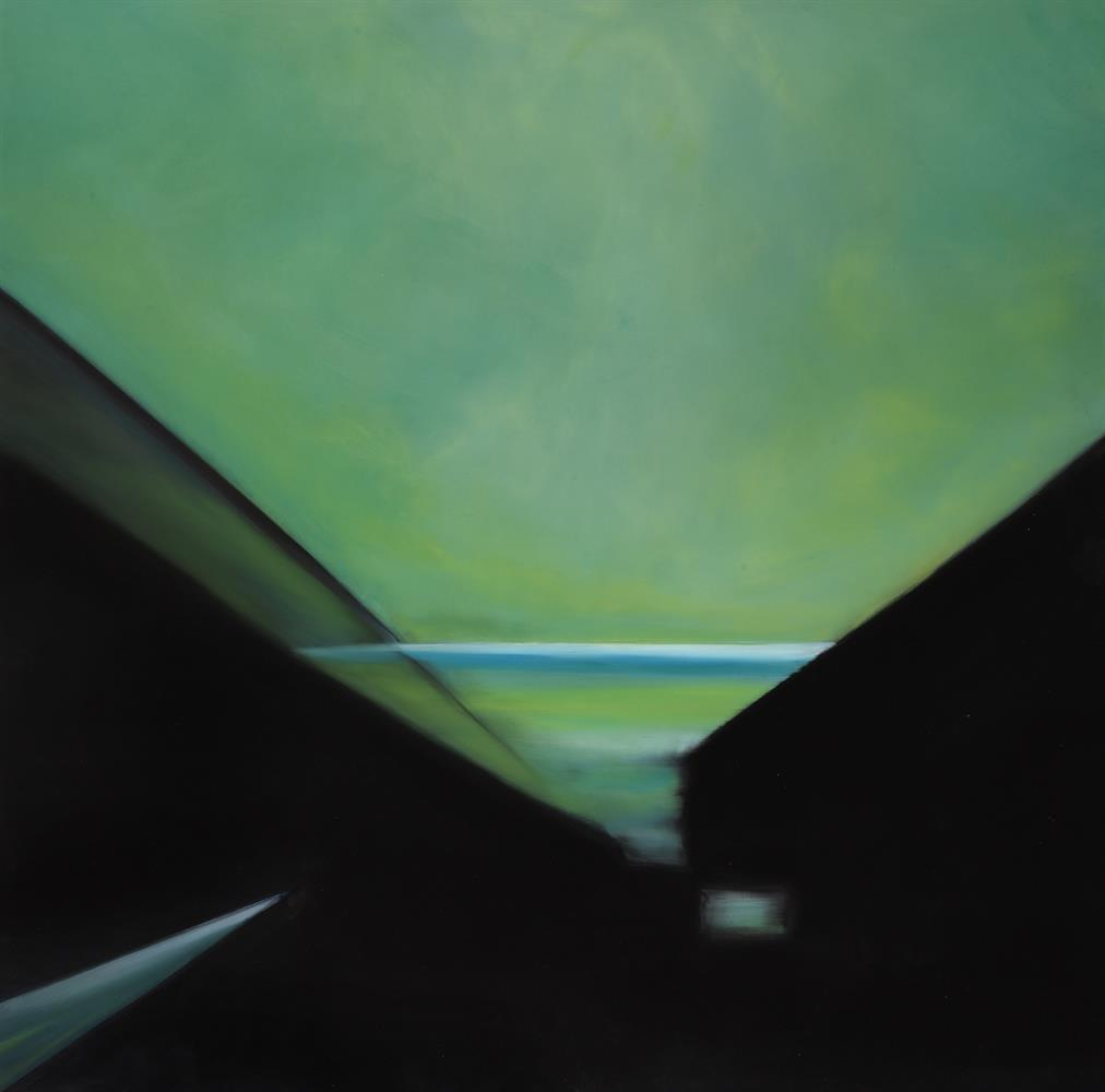 Helen Brough (British 20th/21st century), Lightscapes - Teal green