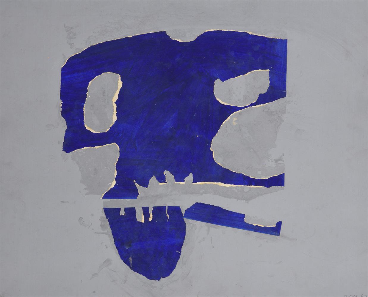 Trevor Bell (British 1920-2017), Blue skull form
