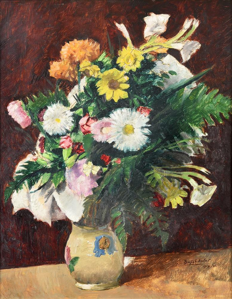 Andor Basch (Hungarian 1885-1944), Still Life with Daisies and Chrysanthemums