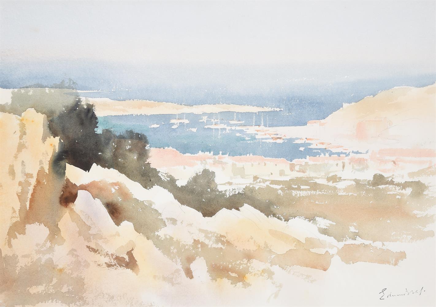 Edward Seago (British 1910-1974), View of Porto Servo