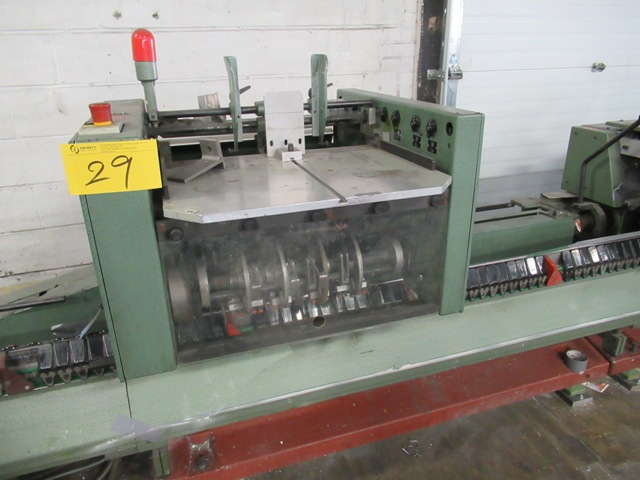 Lot 29 - MULLER 335 SADDLESTITCHER W/6-MD. 306 GATHERING POCKETS, 1528 COVER FEEDER, MD 890 THREE KNIFE