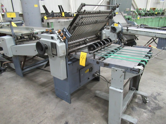 "Lot 4 - STAHL TFU78/4-RF 30"" CONTINUOUS FEED FOLDER S/N 37150-153060 W/ PRE-SCORE SHAFT, 8 & 16 PG."