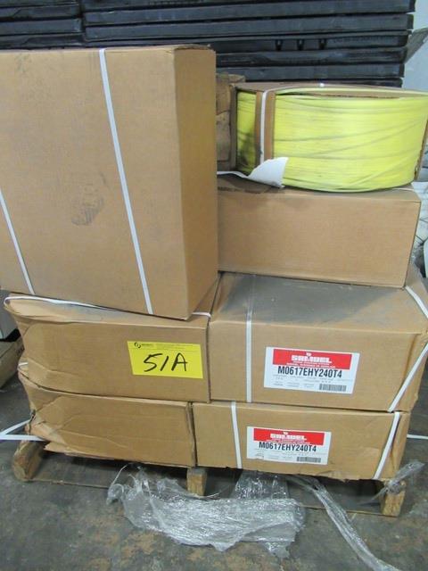 Lot 51A - LOT 1 SKID ASST. SAMUEL 6MM PLASTIC STRAPPING, 13 ROLLS