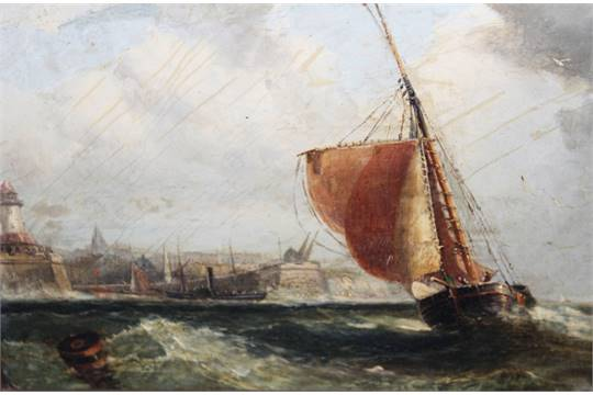 Lot 116 circle of john moore of ipswich 1820 1902 a for Circle fishing boat