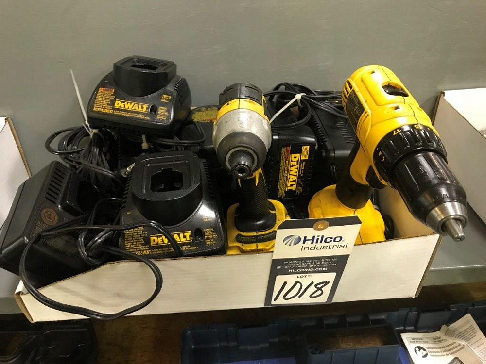 DeWalt 18 Volt Cordless Impact and Drill Hand Tools - Image 2 of 2