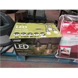 Vintage LED String Outdoor Lights. Need Bulbs. Boxed
