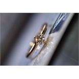 IGI Certificated * VVS1/ H * 0.31ct Round Brilliant Diamond Ring (18k Rose Gold)