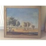 Old oil painting signed Van essche No provenance .