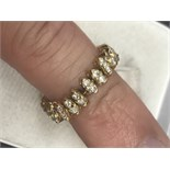 FLEXIBLE FULL DIAMOND ETERNITY RING TESTED AS AT LEAST 18ct GOLD
