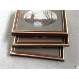 3 signed framed oils.