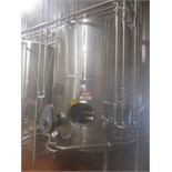 Lot 3 - DCI 2,000 Gallon Dome-Top, Dish-Bottom S/S Insulated Blend Tanks with Horizontal Agitators