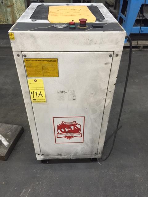Lot 47A - AIR COMPRESSOR, U.S. MDL. US15, 15 HP motor, 100-115 PSI, S/N 105370