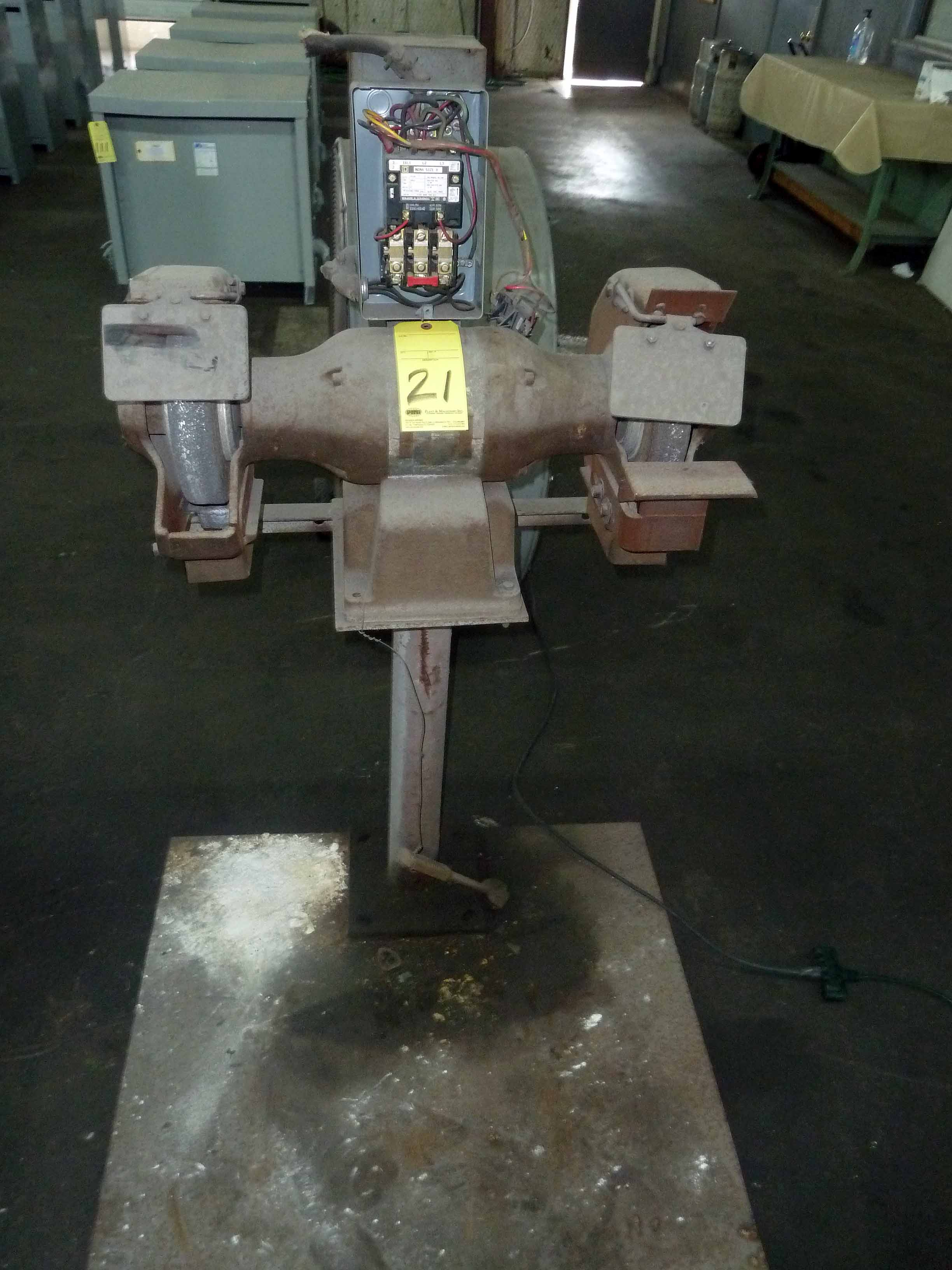 Lot 21 - DOUBLE END GRINDER, H.D.