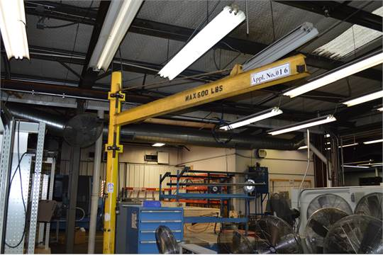 Jib Crane Testing : Jib crane lb with no hoist arm high
