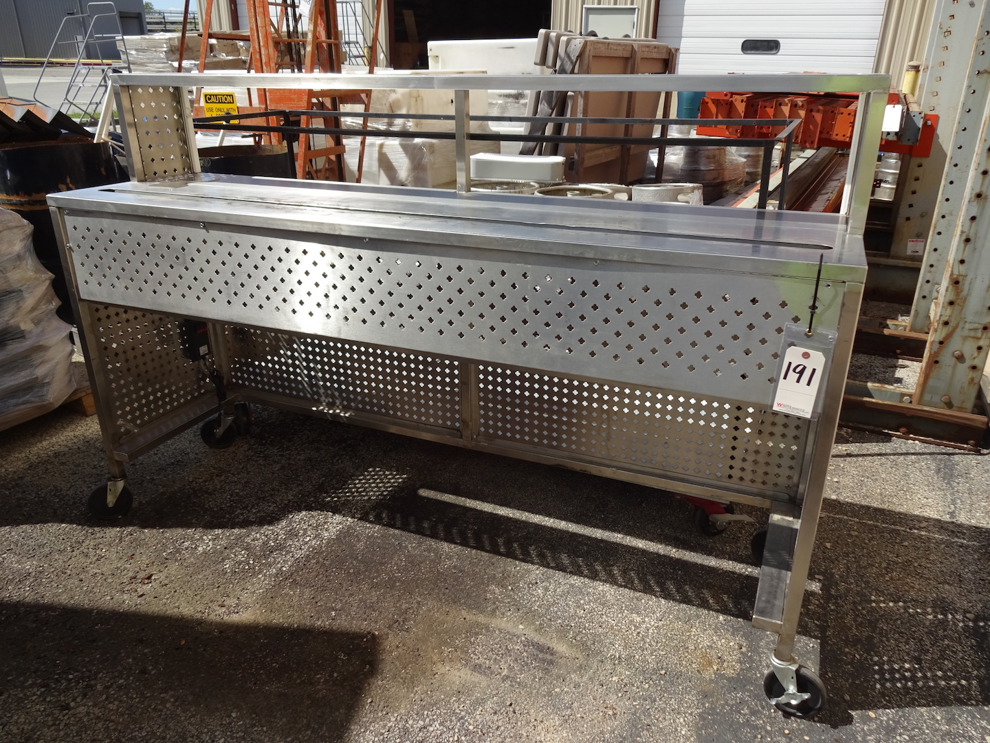 Lot 191 - Stainless Steel Beer Cart