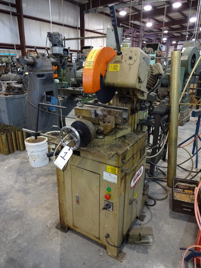 Kalamazoo Model FHC-350SA Cold Saw, S/N 5031201KC (2002), 460 Volt, Pneumatic Clamping