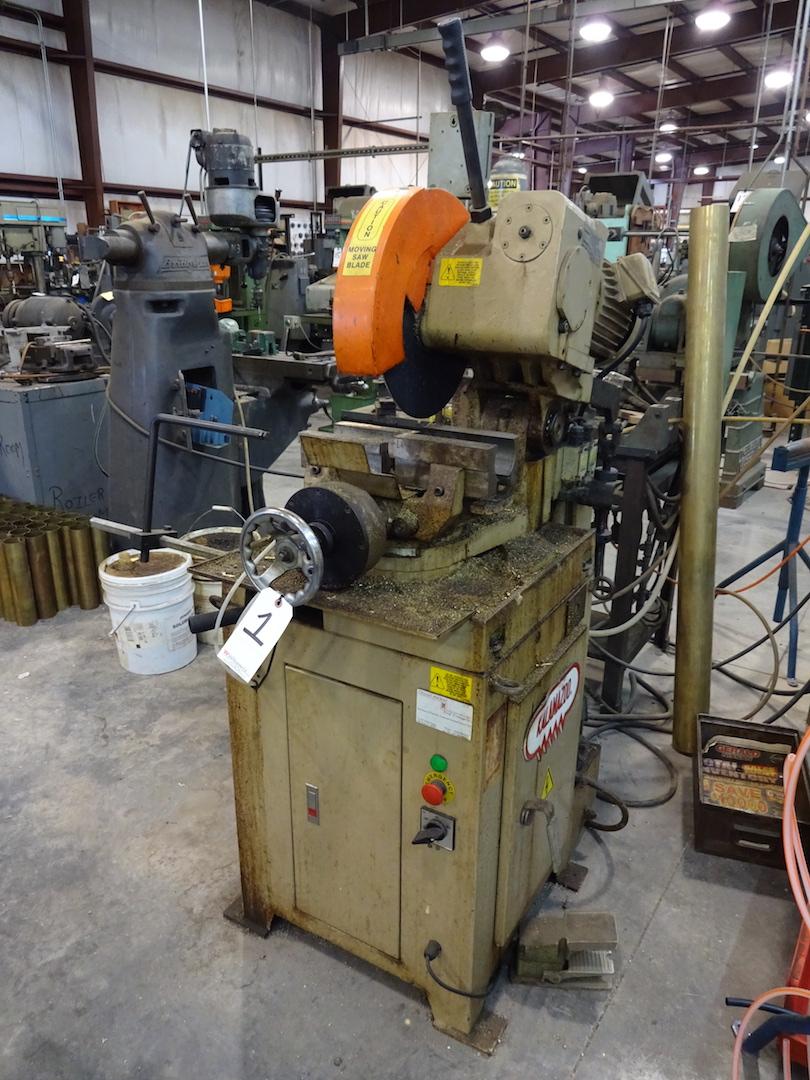 Lot 1 - Kalamazoo Model FHC-350SA Cold Saw, S/N 5031201KC (2002), 460 Volt, Pneumatic Clamping