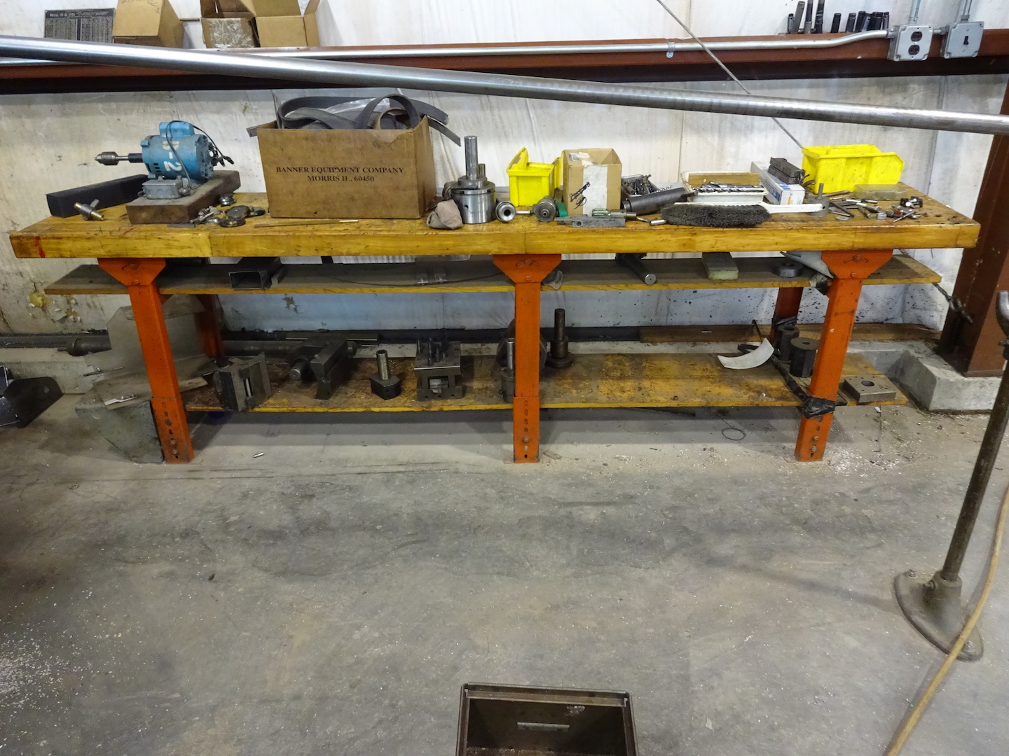 110.5 in. x 20 in. Wood Top Work Bench