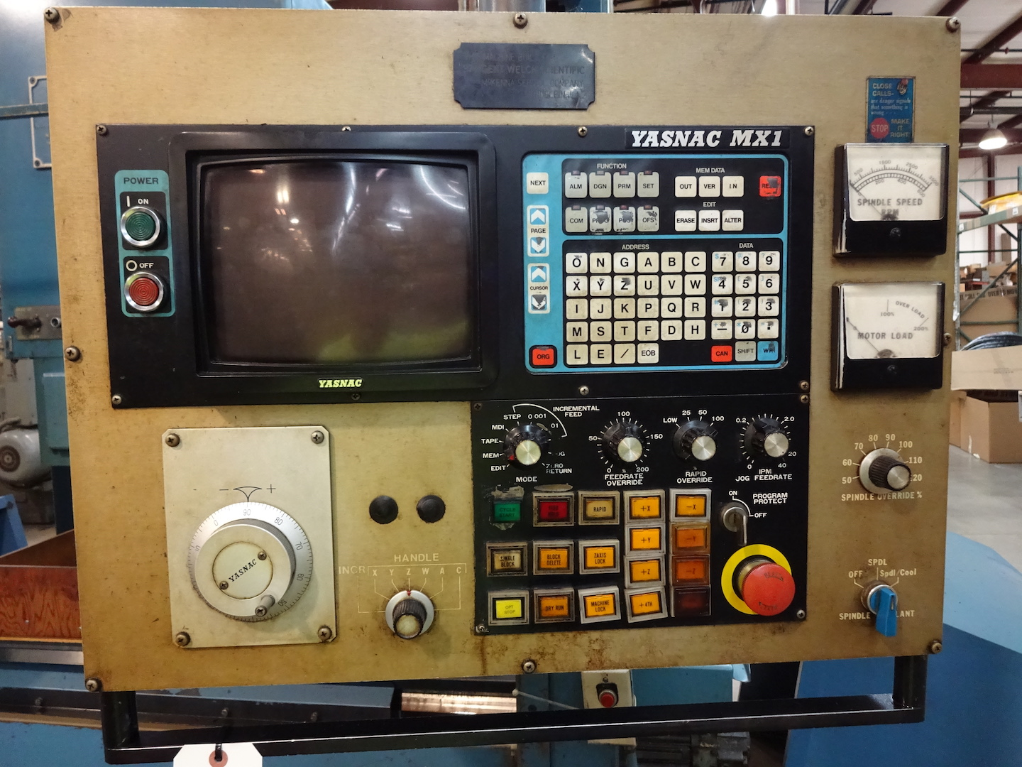 Lot 19 - Acroloc Series 10/MX1 CNC Vertical Machining Center, S/N 84-01-1378, Yasnac MX1 Control, 38 in. x 14