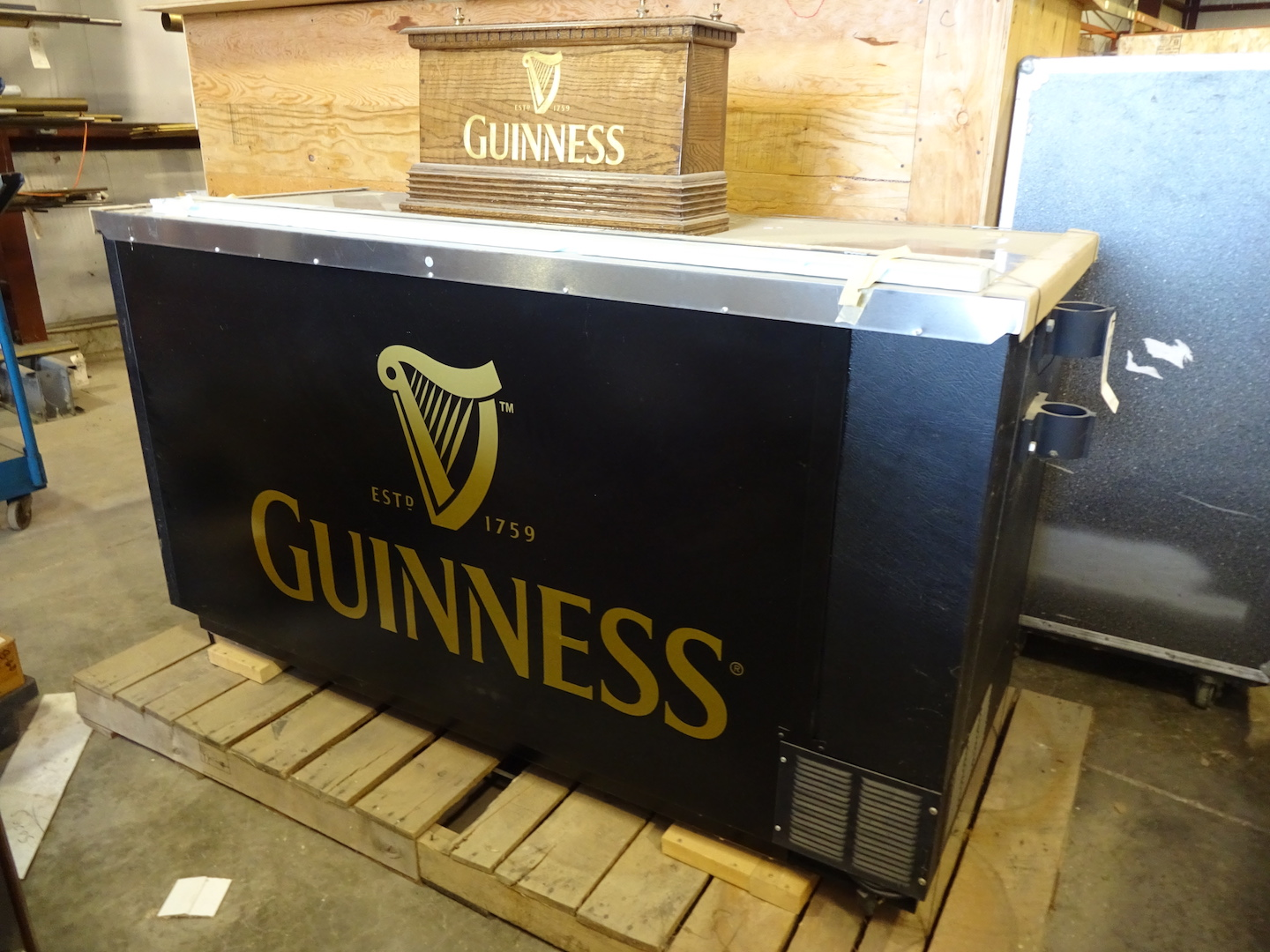 Beverage Air 69 in. 3-Barrel Draft Beer Dispenser, Guinness Coffin Box