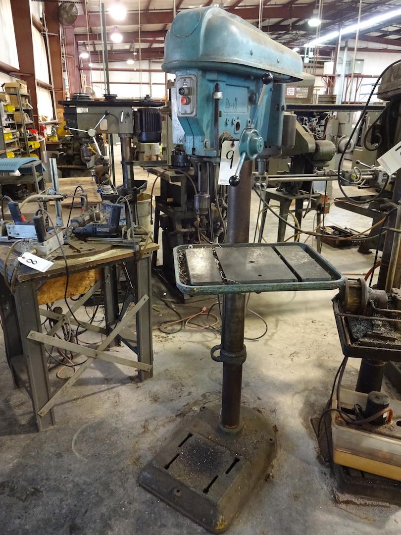 Lot 9 - Rockwell 17 in. Cat. #17-600 Floor Type Drill Press, S/N 1386318, 1 HP, 115/230 Volt