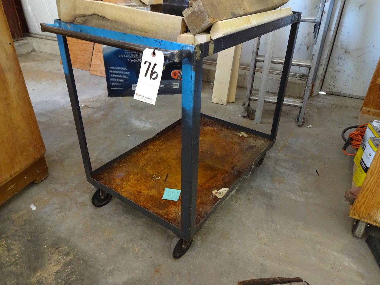 Lot 76 - Steel Shop Cart
