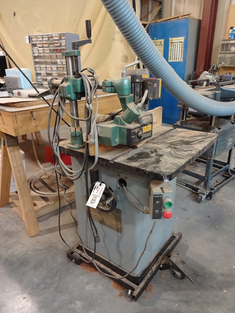 Lot 141B - Delta Single-Spindle Shaper, S/N 97 A 97405, Cat. #43-379, 230 Volt, with Grizzly Model G4176 3-Roll