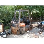SOLD BY PHOTO - TOYOTA FORKLIFT - (NOT RUNNING-SALVAGE)