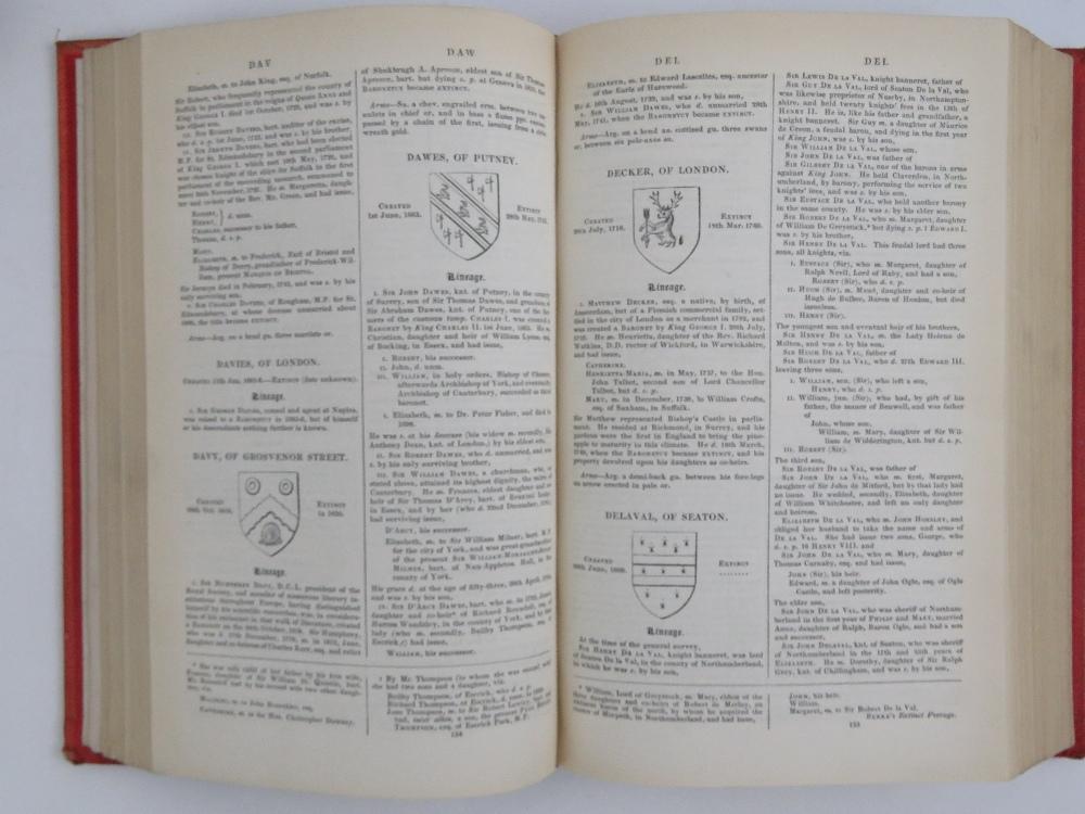 Lot 727 - Books; Birkes 'Extinct Peerages' 1840, l