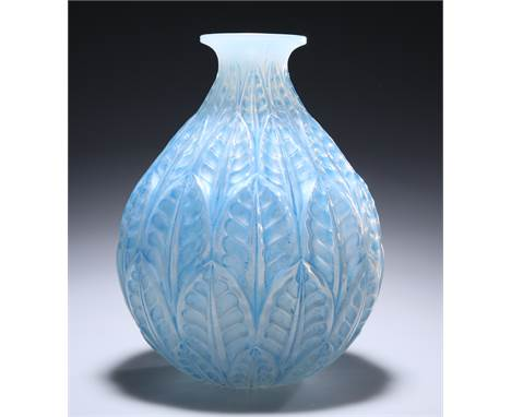 RENÉ LALIQUE (FRENCH, 1860-1945)A 'MALESHERBES' VASE, DESIGNED IN 1927,opalescent glass, mould-blown, frosted and polished w